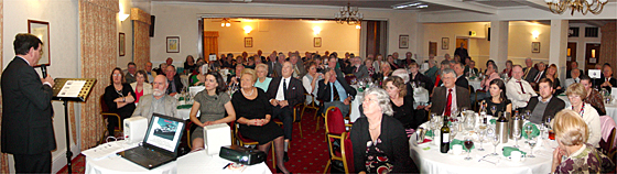 Attentive audience listening to an RNLI Presentation at the 2011 SVVS Annual Dinner