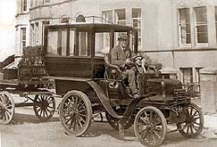 History of Daimler, and a 1897 Daimler Wagonette used by a Hotel in Burnham on Sea