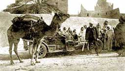 1906 Pipe Tourer in the Sahara (made by Compagnie Belge de Construction Automobiles).